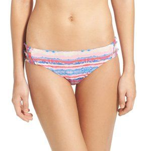 NWT Roxy Sea Stripe Knotted Scooter Bikini Bottom